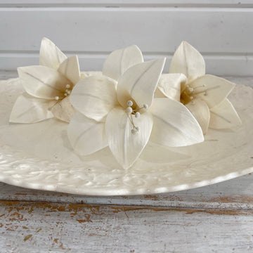 Lilies- perfectly imperfect- Set of 3 (please read description) _sola_wood_flowers