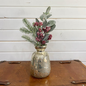 Frosted Holiday Pick- Artificial _sola_wood_flowers