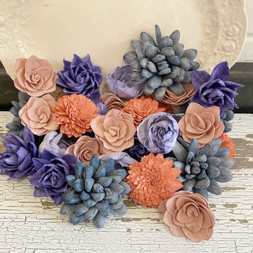 April's Bouquet - Dyed Sola Wood Flower Assortment _sola_wood_flowers