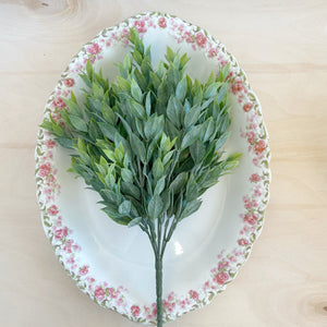 Large Ruscus Leaves - 14 inches - Add on