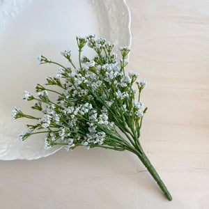 Tiny white floral blooms - 11 inches - Add on