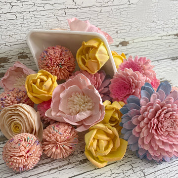 Cotton Candy Dreams - dyed sola wood flower assortment