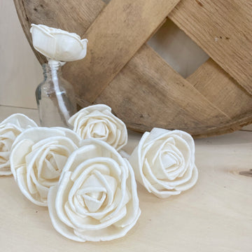 Rosa with wick | set of 6 | 3 inches