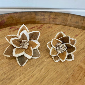Twyla™- set of 12 - 3 inches _sola_wood_flowers