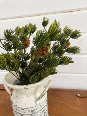 Small Pine Pick- Artificial _sola_wood_flowers