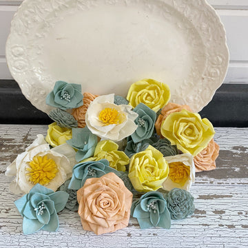 Grandma's Kitchen - Dyed Sola Wood Flower Assortment _sola_wood_flowers