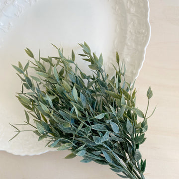 Italian Ruscus stem Artificial Greenery - 14 inches - Add On