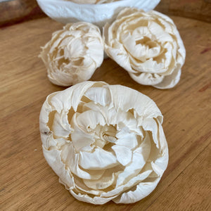 Ruffled Peony™  4 inch - Set of 6 _sola_wood_flowers