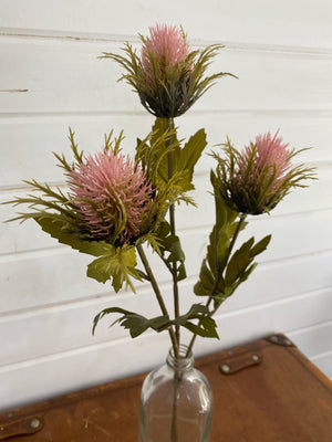 Artificial Pink Thistle _sola_wood_flowers