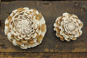 Java™- set of 12 - 3 inches _sola_wood_flowers