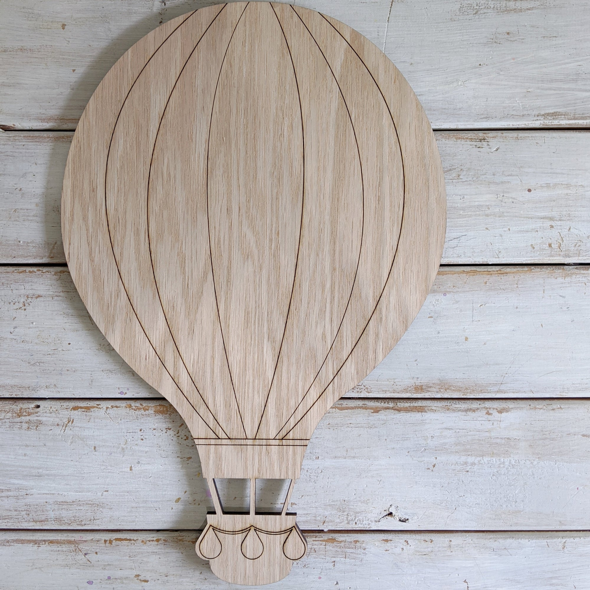 Hot Air Balloon- Wood Cutout- Large _sola_wood_flowers