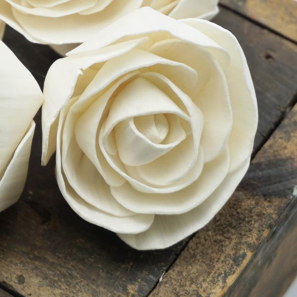 Lovely™  - Bulk Wholesale 100 Pack - 1.5 inches _sola_wood_flowers