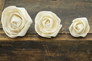 Lovely™ Flower  - set of 12 - 1.5 inches _sola_wood_flowers