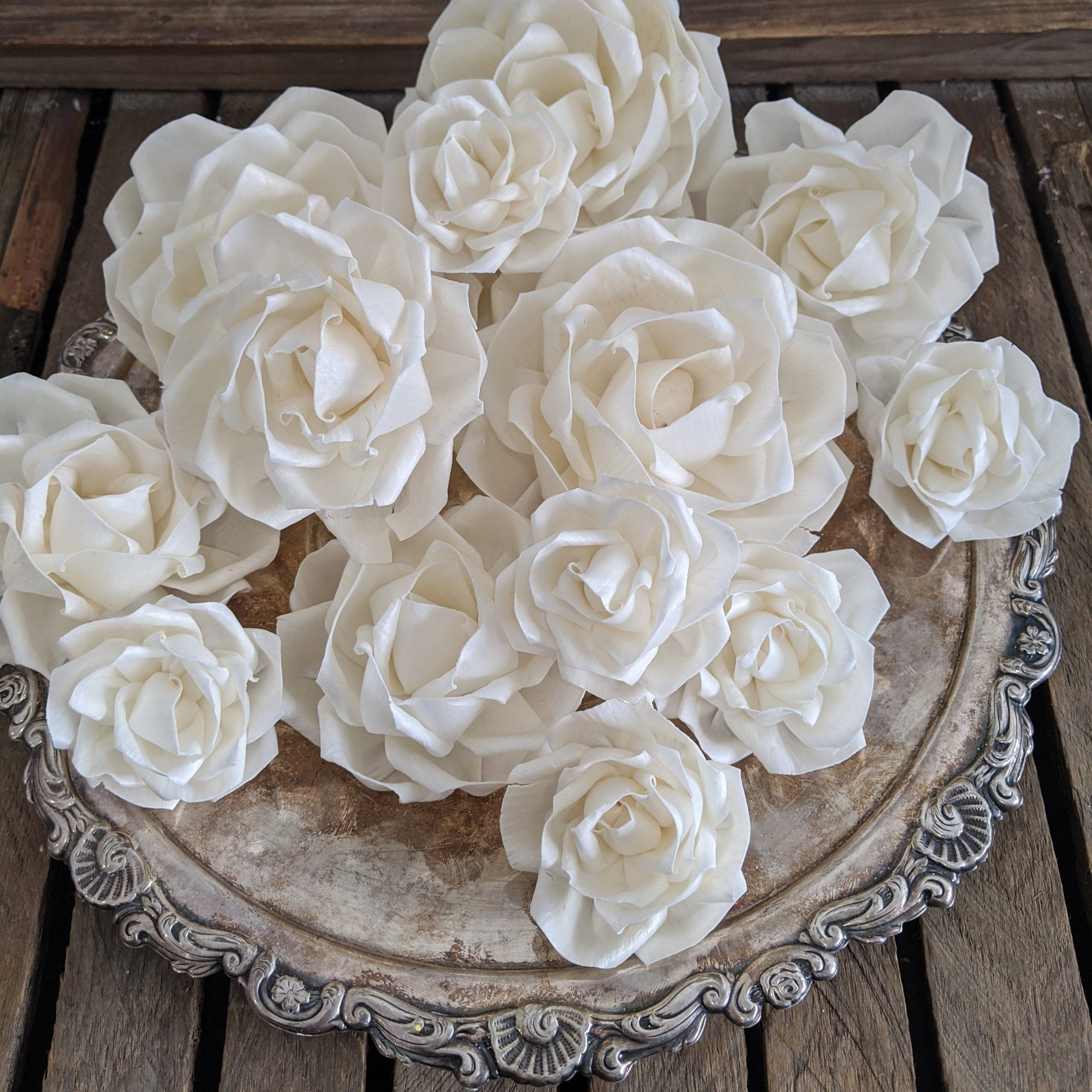 Luxe Tea Rose™ Size Assortment _sola_wood_flowers