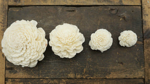 Marigold - set of 12 - 1 inch (mini) _sola_wood_flowers