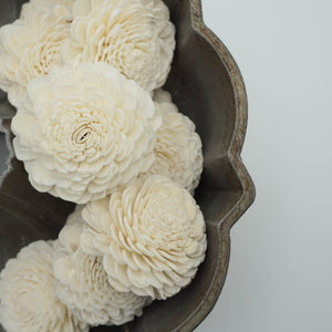 Marigold - set of 12 - 3 inches _sola_wood_flowers