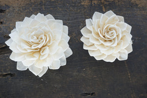 Miss Ivy™- set of 12 - 3 inches _sola_wood_flowers