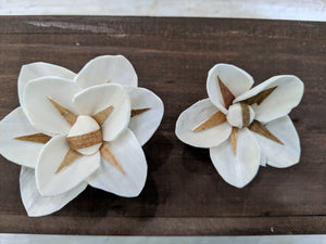 North Star™- set of 12-  2.5 inches _sola_wood_flowers
