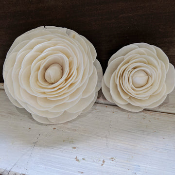 Ranunculus- set of 12 - 2.5 inches _sola_wood_flowers