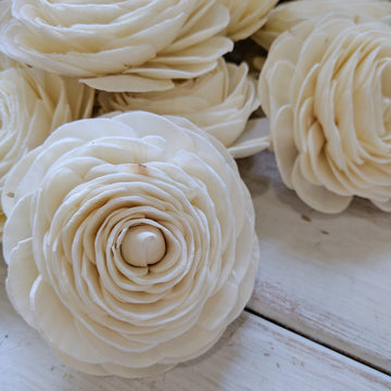 Ranunculus- set of 12 - 3 inches _sola_wood_flowers