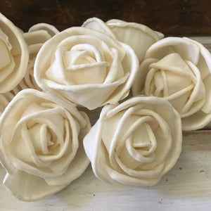 Rosa™ sold by the dozen - 1.5 inch _sola_wood_flowers