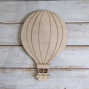 Hot Air Balloon- Wood Cutout- Medium _sola_wood_flowers