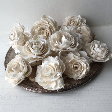 Sophia™ Flowers  - set of 12 - 2.5 inches _sola_wood_flowers