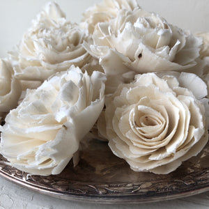 Sophia™ Flowers  - set of 12 - 3 inches _sola_wood_flowers