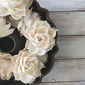 Sugar and Spice™- set of 12 - 3 inches _sola_wood_flowers
