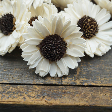Sunflower - set of 12 - 3 inches _sola_wood_flowers