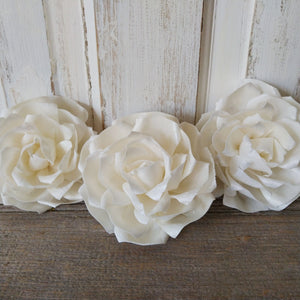 Tea Rose -  Extra Large Size - set of 3 _sola_wood_flowers
