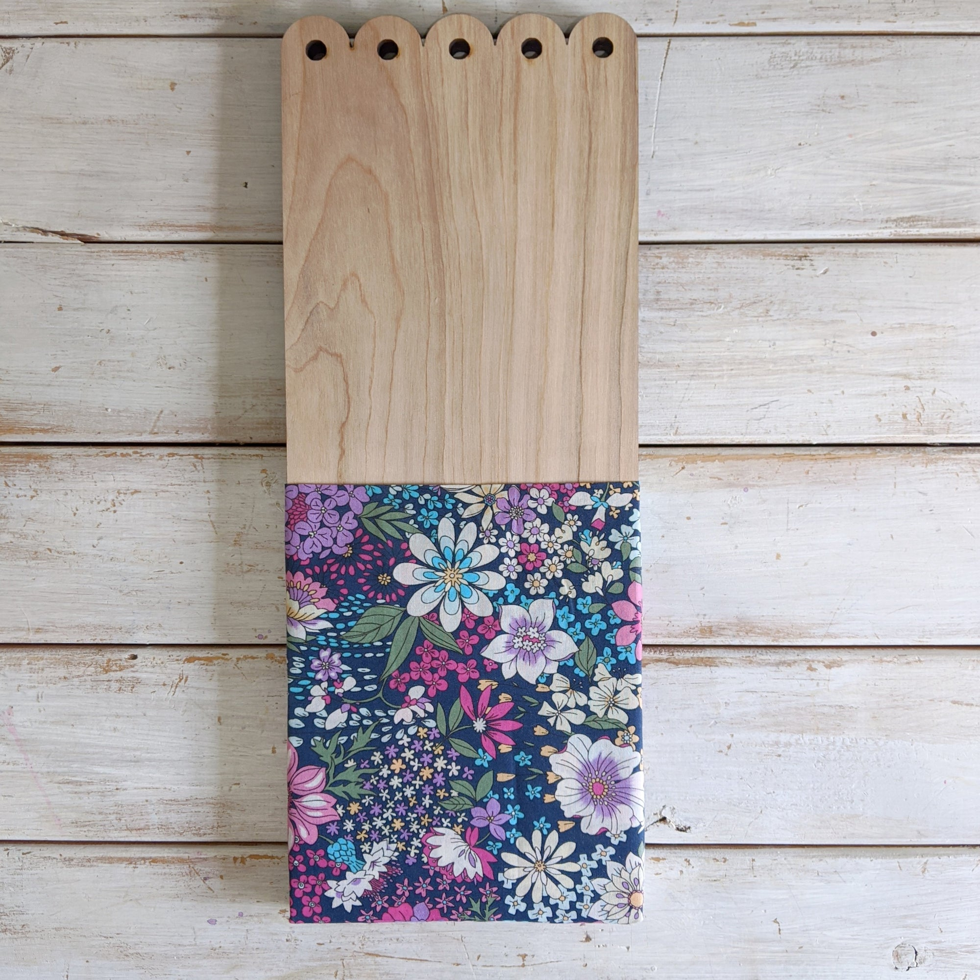 Flower Pocket™- scolloped detail - moody navy _sola_wood_flowers