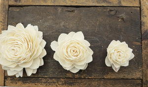 Waterlily New Size - set of 12- 2.5 inches _sola_wood_flowers