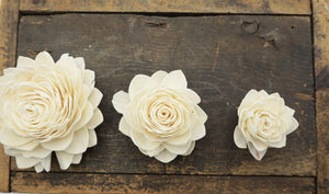 Waterlily - set of 12- 3 inches _sola_wood_flowers