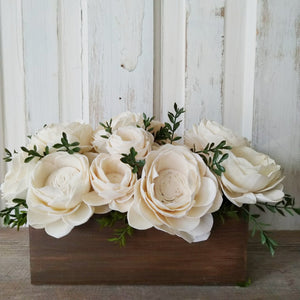 Wooden Box Arrangement - Craft Kit _sola_wood_flowers