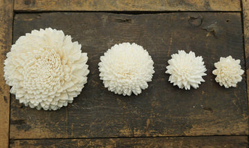 Zinny™- set of 12- 1 inch _sola_wood_flowers