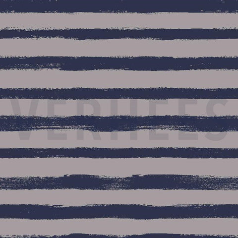 Grey and blue funky stripes French terry PRE ORDER - Kailuna Fabrics Uk Jersey Fabric