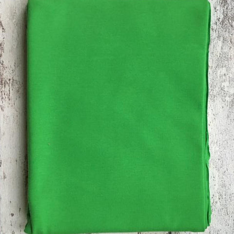 Bright Green Jersey Plain Solid - Kailuna Fabrics Uk Jersey Fabric