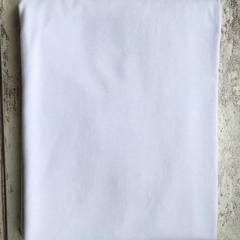 White Jersey Plain Solid - Kailuna Fabrics Uk Jersey Fabric