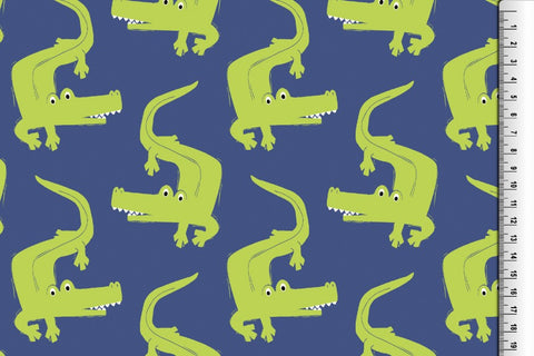 Crocodile Dance French Terry PRE ORDER - Kailuna Fabrics Uk Jersey Fabric