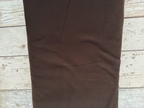 Chocolate Brown Plain Jersey Solid PRE ORDER - Kailuna Fabrics Uk Jersey Fabric
