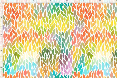Leaves UV SWIM / EXERCISE Fabric - Kailuna Fabrics Uk Jersey Fabric