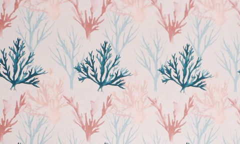 Coral Watercolour Organic Jersey - Kailuna Fabrics Uk Jersey Fabric