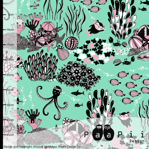 Myyry the Diver Mint and Pink Paapii Organic Jersey