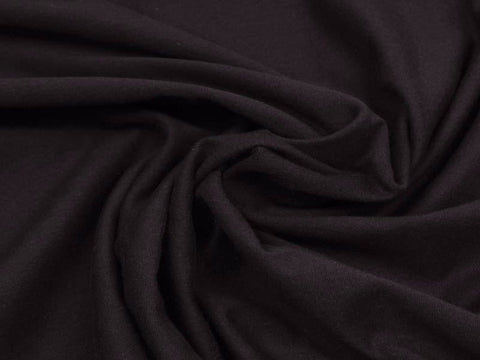 Black Jersey Solid PRE ORDER - Kailuna Fabrics Uk Jersey Fabric