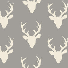 Art Gallery Buck Forest Grey Organic Jersey