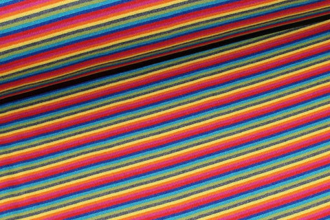 Rainbow Stripe Ribbing - Kailuna Fabrics Uk Jersey Fabric