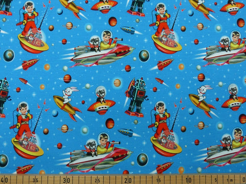 Space boy French Terry 58cm OFFCUT