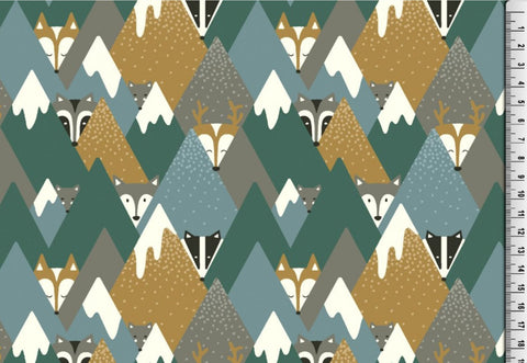 Fox Triangles Green Organic Jersey