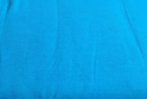 Turquoise smooth ribbing (70cm total width) - Kailuna Fabrics Uk Jersey Fabric